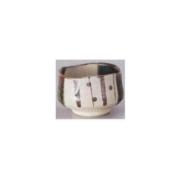 抹茶茶碗夢織部土物箱入陶器美濃焼