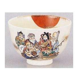 抹茶茶碗 宝船七福神 箱入 陶器 美濃焼