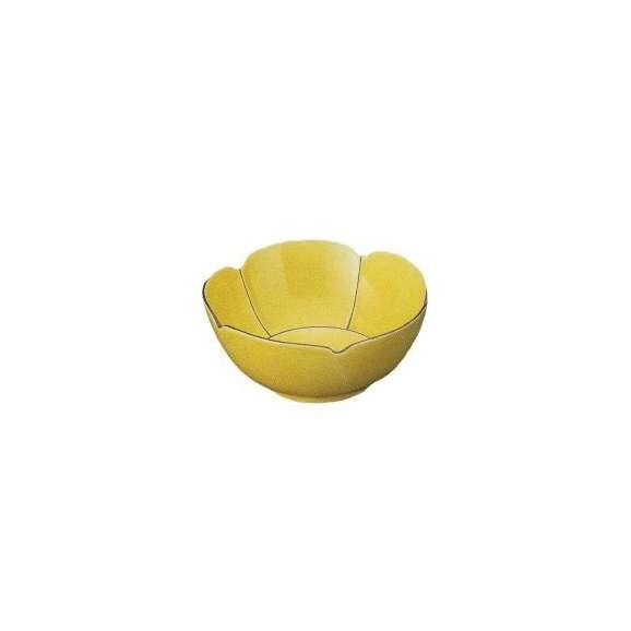 小鉢錆線黄釉花型小鉢(有田焼)和食器