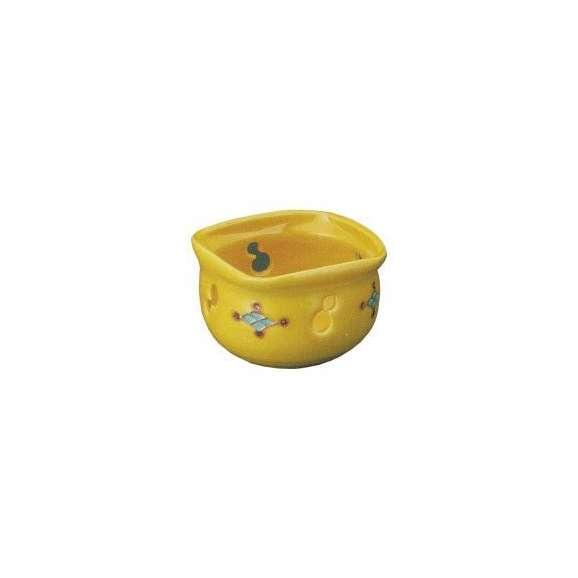 小鉢黄交趾菱紋透し中付(有田焼)和食器