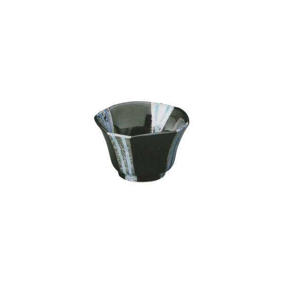小鉢プラチナブルー流水黒釉中付(有田焼)和食器