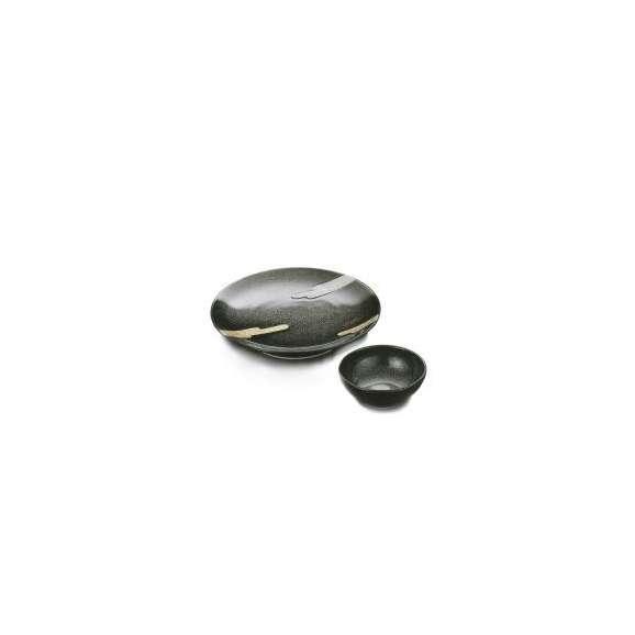 天皿と呑水のセット鉄砂金銀雲(有田焼)和食器