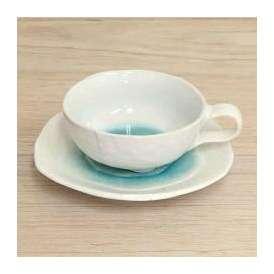 スープカップ&ソーサー スープ碗 三角5寸皿 トルコ 美濃焼