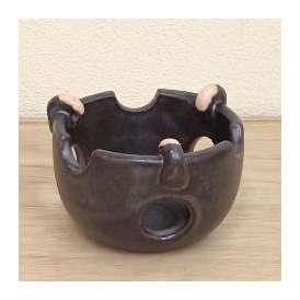 耐熱コンロ 土瓶蒸し 黒釉 直火可 万古焼  和食器 業務用食器