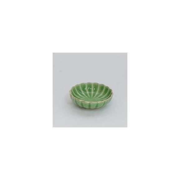 小鉢ミニ珍味皿菊型渕金ヒワ和食器美濃焼業務用