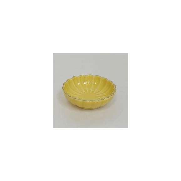 小鉢ミニ珍味皿菊型渕金黄和食器美濃焼業務用