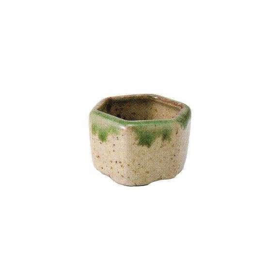 小鉢六角豆珍味緑釉流し和食器美濃焼業務用