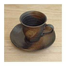 コーヒーカップソーサー 黒彩ネジリ 美濃焼 カフェ 食器 業務用