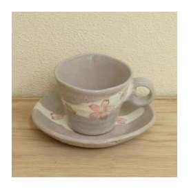 コーヒーカップソーサー サクラさざ波 美濃焼 カフェ 食器 業務用
