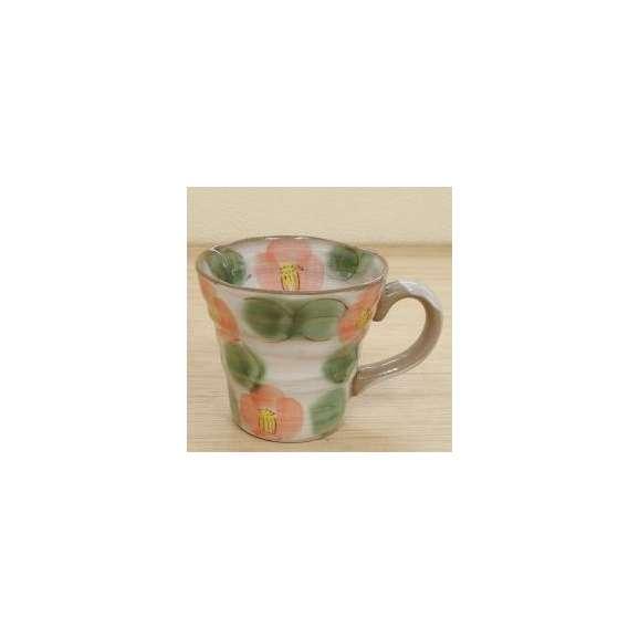 マグカップ化粧土赤椿土物美濃焼a625-4-32