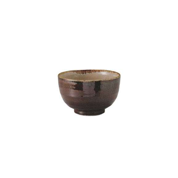 碗多盛碗アメ釉内ウノフ土物美濃焼和食器
