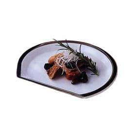 扇皿 19.5cmプレート PLスパイヤー 洋食器 業務用食器 美濃焼