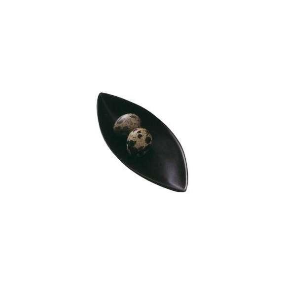 前菜皿細長プレート黒小ジャパニーズモダン洋食器業務用食器美濃焼