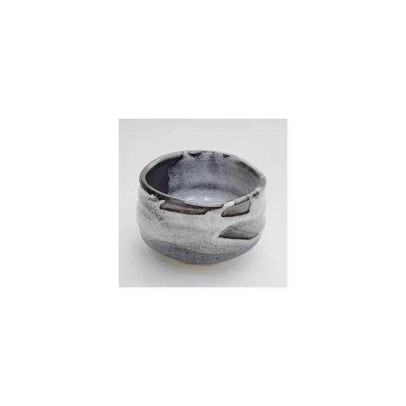 抹茶碗黒釉志野流し和食器【箱入り】美濃焼