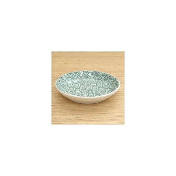 小皿プレート10.3cm青海波グリーン和食器業務用食器美濃焼