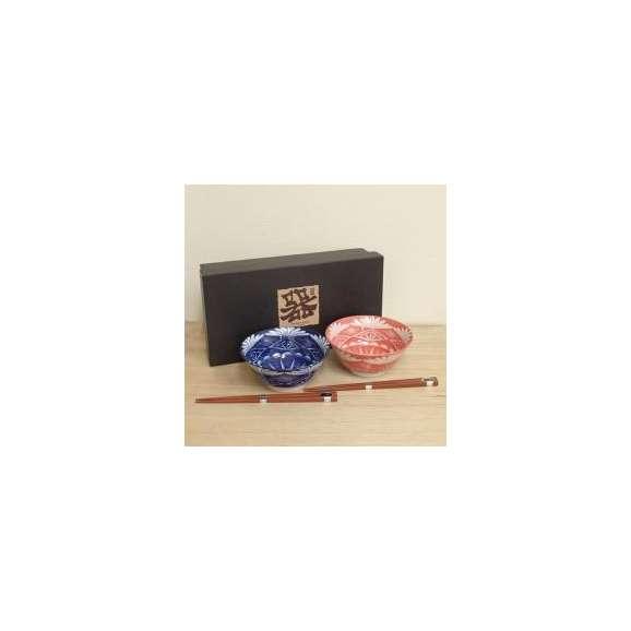 丼ぶりペアセット4.8丼江戸切子風和食器【箱入り】美濃焼