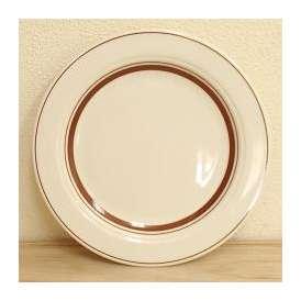 ミート皿 21cmプレート ダークブラウン カントリーサイド 洋食器 業務用 美濃焼