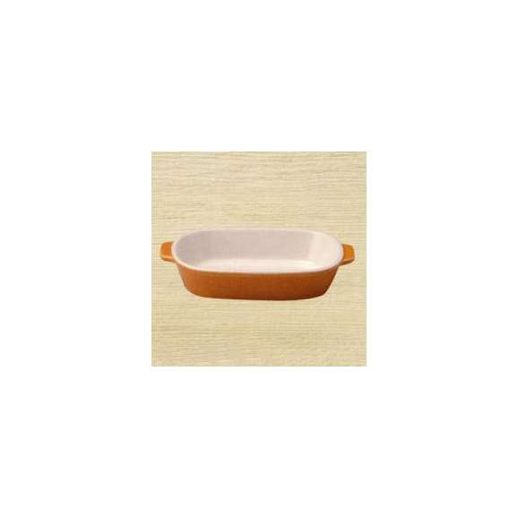 グラタン皿ソーバーオレンジカントリーサイド洋食器業務用美濃焼