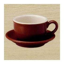 ティーカップソーサー チャコールブラウン 茶色 カントリーサイド 洋食器 美濃焼