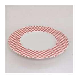 ディナー皿 27.5cm リムプレート レッド トレーセ 業務用食器 美濃焼