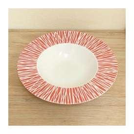 スープ皿 スープボール 深皿 パスタ皿 26.5cmプレート レッド ルミネール 洋食器 白磁 業務用食器 美濃焼