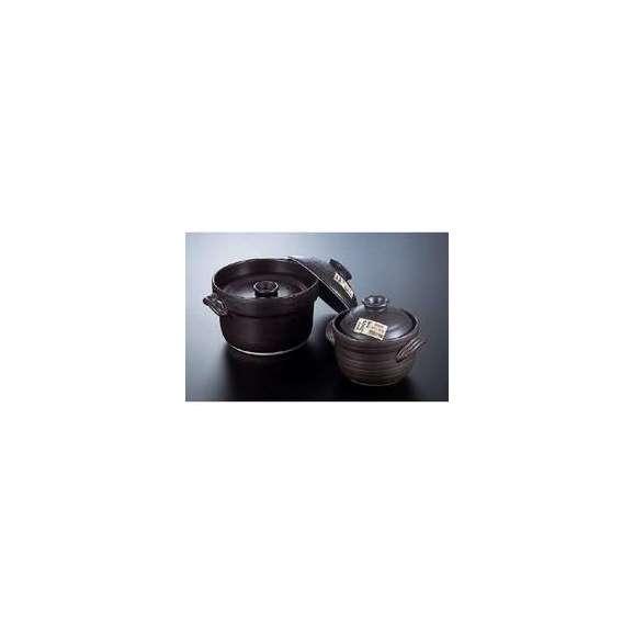 大黒炊飯土鍋3合炊き(二重蓋)ばんこ焼