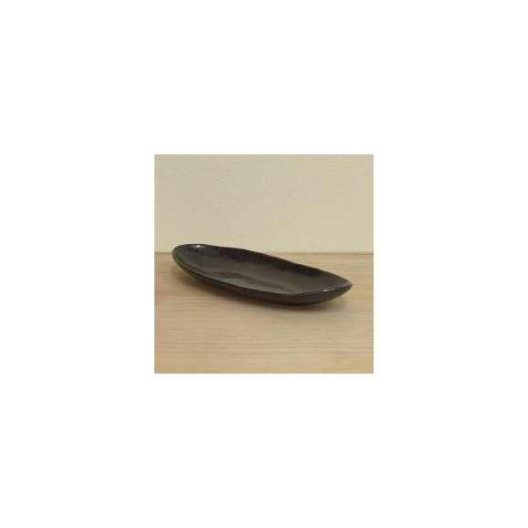 盛鉢黒結晶楕円長盛鉢美濃焼和食器