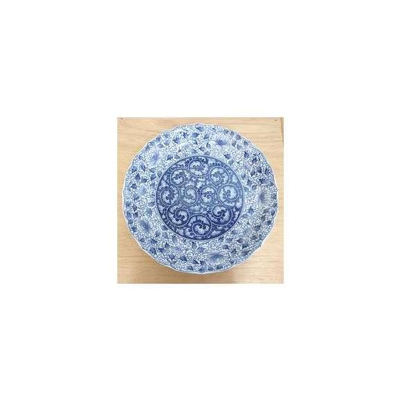 大皿36cm濃唐草桔梗尺二和皿