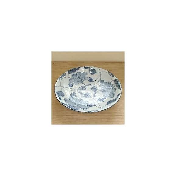 大皿31cm桔梗尺皿牡丹唐草和皿
