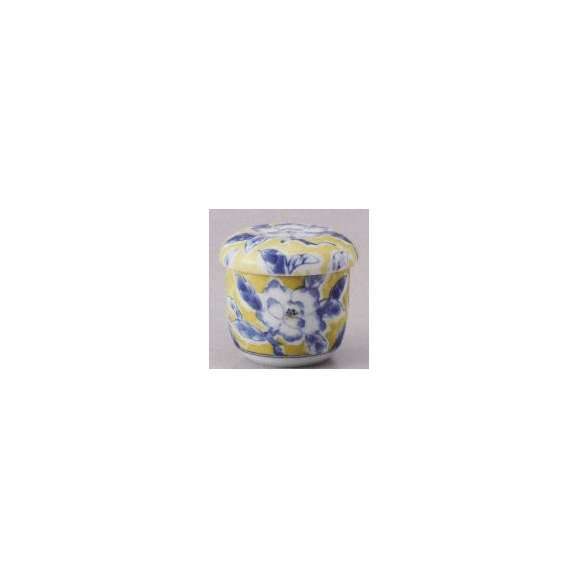 茶碗蒸しの食器黄彩花紋業務用和食器