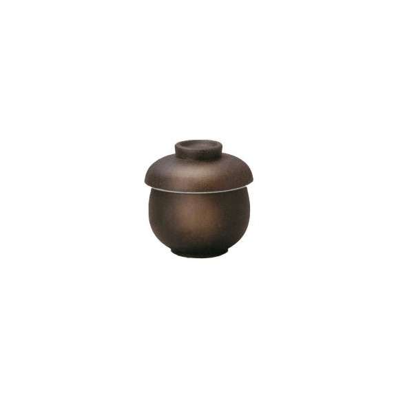 茶碗蒸しの食器黒伊賀瓢型業務用和食器
