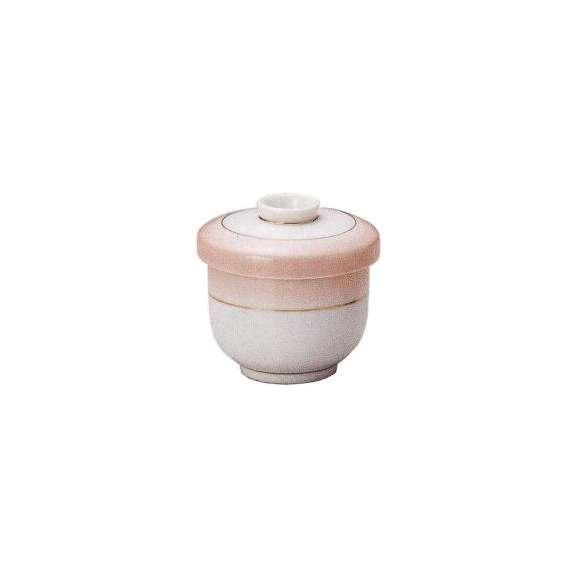 茶碗蒸しの食器ピンク吹渕金並型(小)業務用和食器