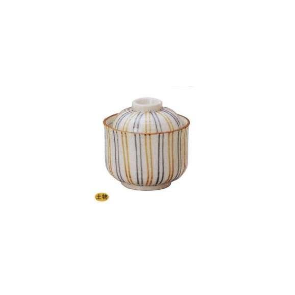 茶碗蒸しの食器二色ト草一口碗土物業務用和食器