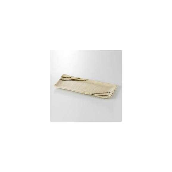 焼物皿12.0長角皿伊賀織部筋強化磁器美濃焼業務用