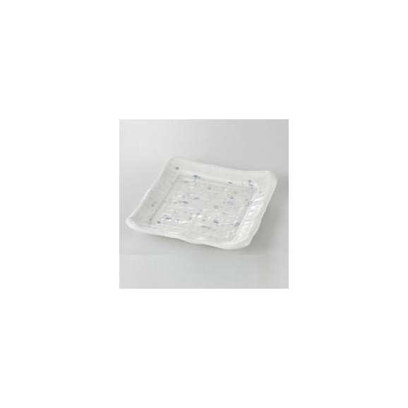 中皿削ぎ角皿朝霧和食器業務用美濃焼