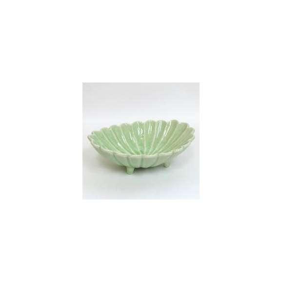中鉢菊割楕円鉢ヒワ釉和食器業務用美濃焼