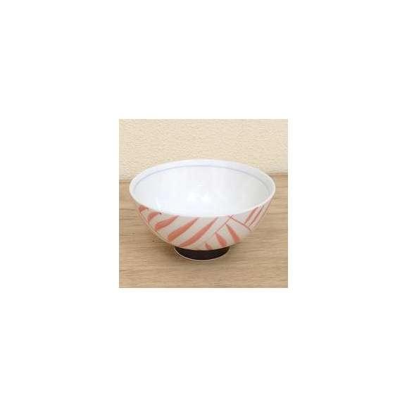 ご飯茶碗中平赤絵間取十草強化磁器飯碗和食器業務用食器美濃焼