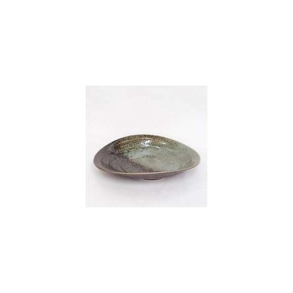 楕円深皿パスタ皿カレー皿ウノフ吹き業務用美濃焼