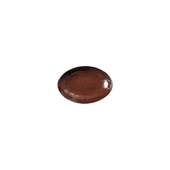 楕円皿カレー皿アメ釉業務用美濃焼オーバルボウル