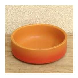 美濃焼 カラー チーズフォンデュ用ソースディッシュ(大) ベイクオレンジ 直火用