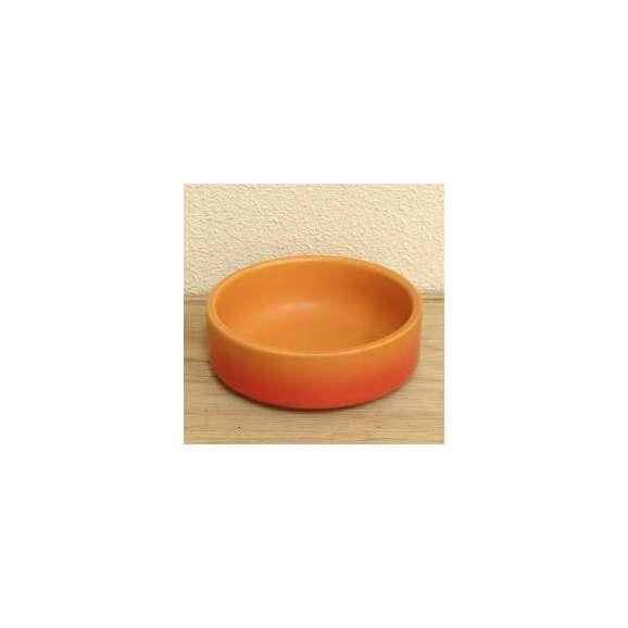 美濃焼カラーチーズフォンデュ用ソースディッシュ(大)ベイクオレンジ直火用
