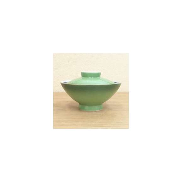 蓋丼蓋付き大茶緑彩強化磁器美濃焼