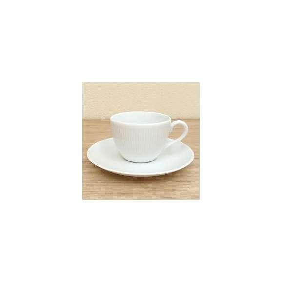 美濃焼春カラー食器コーヒーカップ&ソーサーピュアホワイトシフォン