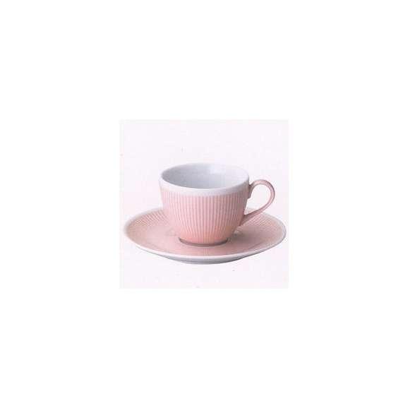 美濃焼春カラー食器コーヒーカップ&ソーサーロゼピンクシフォン