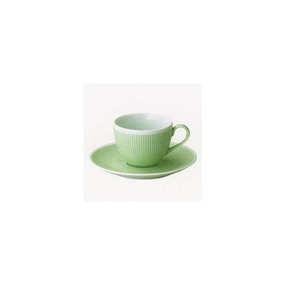 美濃焼春カラー食器コーヒーカップ&ソーサーミントグリーンシフォン