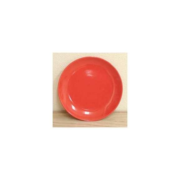 美濃焼白と赤の業務用食器クープ皿(赤)15.5cmリーバイ