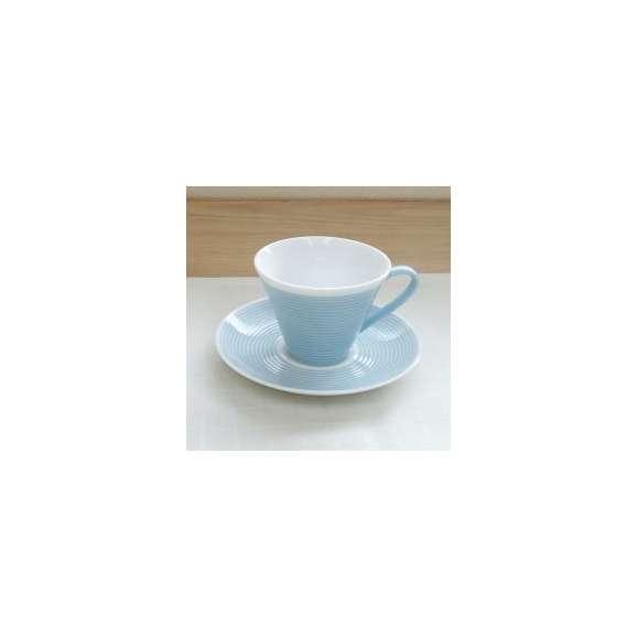 コーヒーカップソーサーペールブルーピコレ美濃焼洋食器業務用