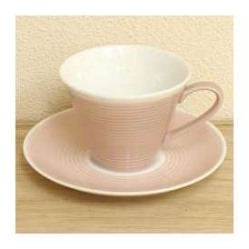 コーヒーカップソーサー ローズピンク ピコレ 洋食器 美濃焼