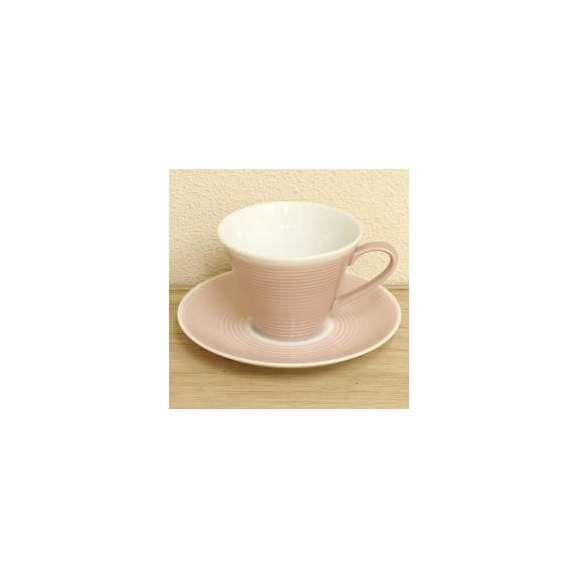 コーヒーカップソーサーローズピンクピコレ洋食器美濃焼