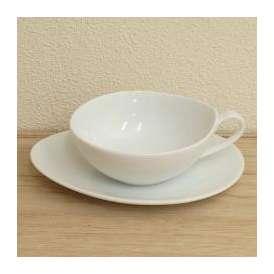 ティーカップソーサー 白磁 白い食器 Crecent(クレセント) studio010